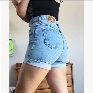 Vintage high waisted American buffalo denim shorts
